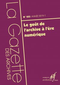 Couverture du n. 253 de la Gazette des archives