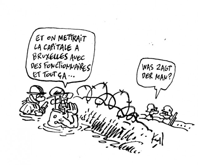 Press cartoon by Pierre Kroll on European dream
