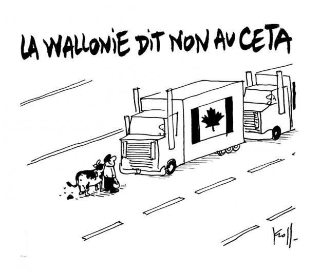 Press cartoon by Pierre Kroll on CETA