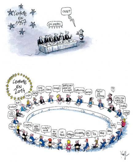 Press cartoon by Pierre Kroll on European enlargement
