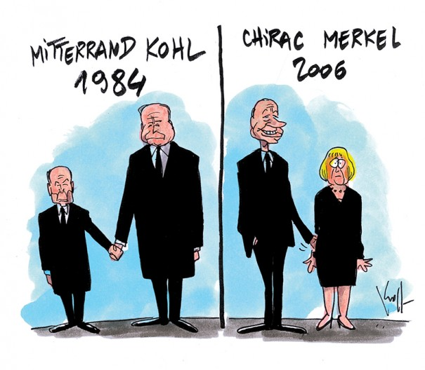 Press cartoon by Pierre Kroll on the French-German couple