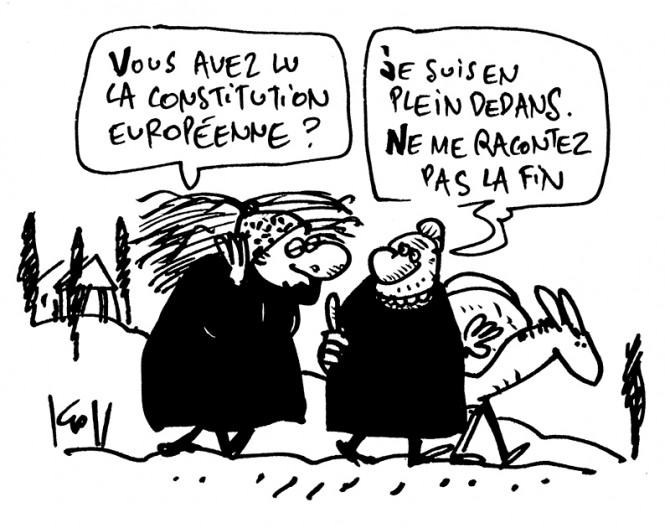 Press cartoon by Pierre Kroll on the European constitution
