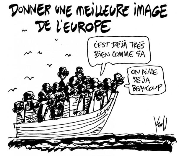 Press cartoon by Pierre Kroll on the perception of Europe