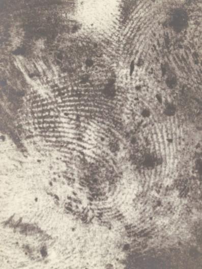 Fingerprints from the crime scene