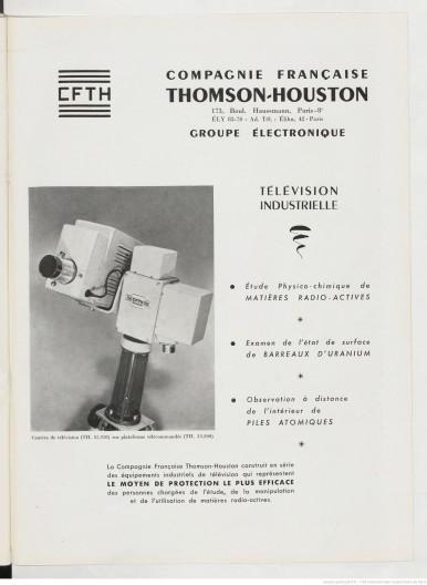 Publicité Thomson-Houston
